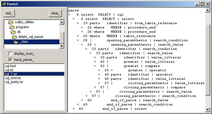 Felix Colibri- Delphi SQL Parser
